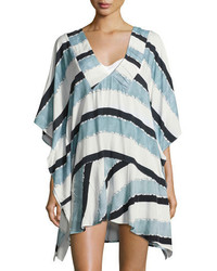 Vix Sea Glass Swim Coverup Caftan Blue