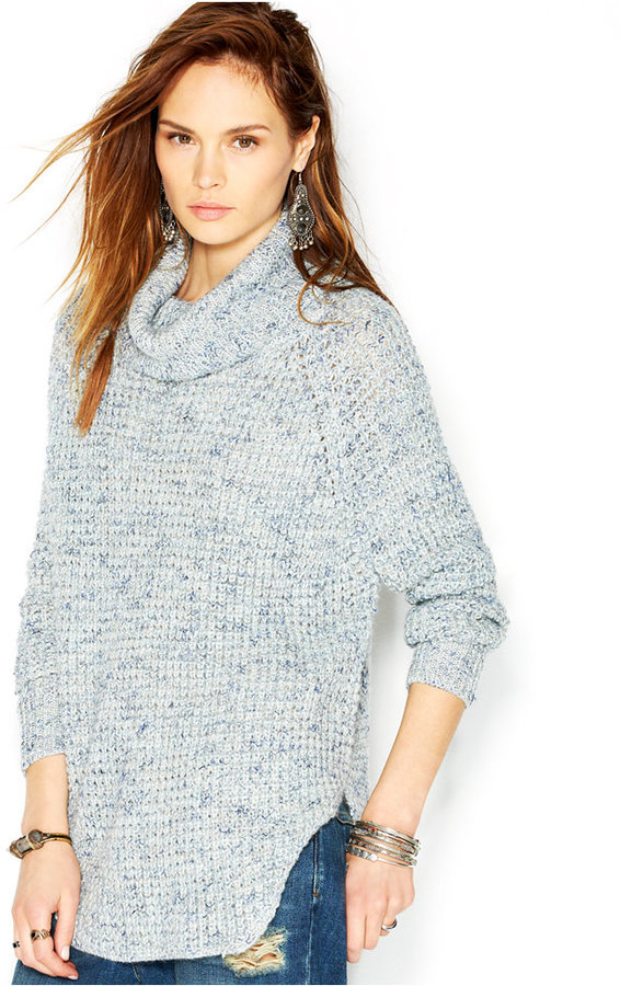 Free People Dylan Tweedy Long Sleeve Cowl Neck Sweater | Where to ...