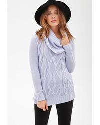 Light Blue Cowl-neck Sweaters for Women | Women's Fashion