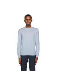 Ermenegildo Zegna Blue Premium Cotton Sweater