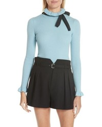Bow neck wool sweater medium 8672355