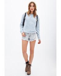 Forever 21 Burnout Knit Pullover