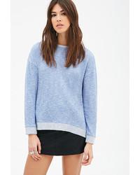 Forever 21 Marled Contrast Trimmed Sweatshirt