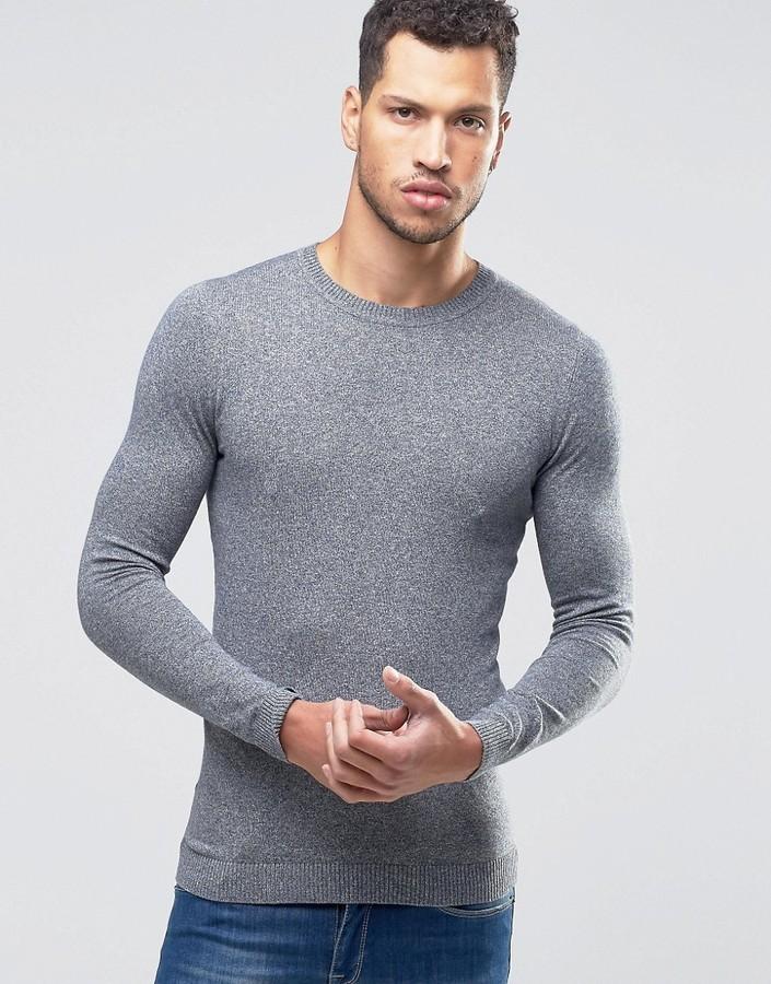 f5b262379 Asos Muscle Fit Crew Neck Sweater, $16 | Asos | Lookastic.com