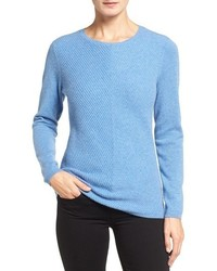 Nordstrom Collection Mitered Rib Cashmere Pullover