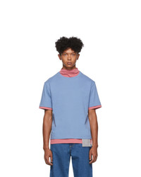 Keenkee Blue And Pink Pullover T Shirt