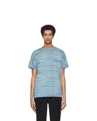 Saturdays Nyc Blue And Purple Mineral Wash T Shirt