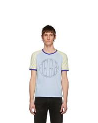 Telfar Blue Branded Raglan T Shirt