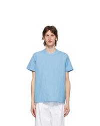 Sunnei Blue Button T Shirt