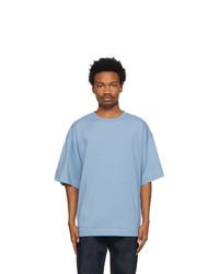 Dries Van Noten Blue Cotton Oversized T Shirt