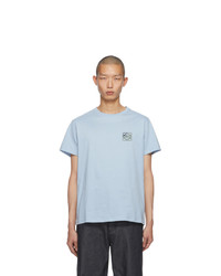 Loewe Blue Embroidered Anagram T Shirt