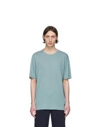 Z Zegna Blue Linen T Shirt