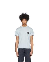 Stone Island Blue Pocket Logo T Shirt
