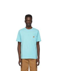CARHARTT WORK IN PROGRESS Blue Pocket T Shirt