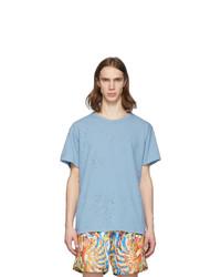 Amiri Blue Shotgun T Shirt