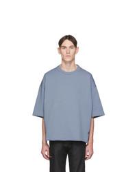 Jil Sanderand Blue Three Quarter Sleeve Sweatshirt