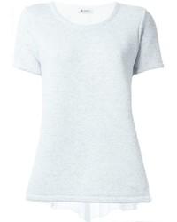 Dondup Contrasting Panel Ribbed T Shirt