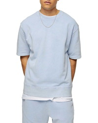 Topman Short Sleeve French Terry Sweatshirt