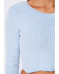 $60, LIGHT BLUE CROPPED SWEATER: RIVER ISLAND BLUE CROPPED SWEATER ...