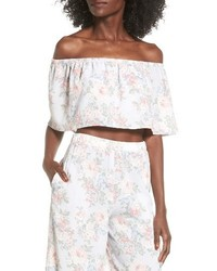 WAYF Off The Shoulder Crop Top