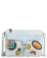 Rebecca Minkoff Mini Mac Patchwork Denim Crossbody Bag Blue