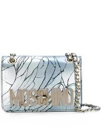 Moschino Cracked Effect Shoulder Bag