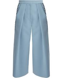 Devin ric rac trimmed crepe culottes medium 967539
