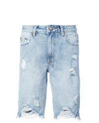 Frayed denim shorts medium 7587422