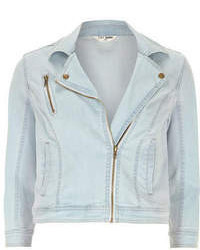 Dorothy Perkins Bleach Biker Denim Jacket