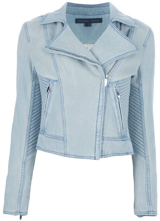Top Theyskens' Theory Denim Biker Jacket | Where to buy & how to wear @AY38