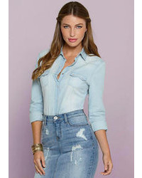 Ali kris jayden denim shirt medium 71555