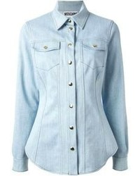 Moschino slim fit denim shirt medium 71565