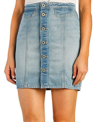 Paige Button Front Denim Skirt