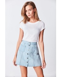 BDG Denim Button Front Skirt