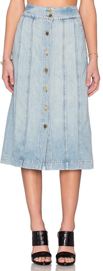Frame Denim Le Panel Skirt