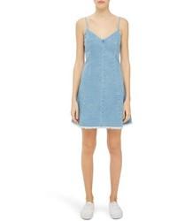 Topshop Boutique Lace Up Denim Slipdress