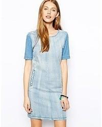 Light Blue Denim Casual Dress