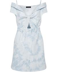 Thakoon Faded Denim Cut Work Dress