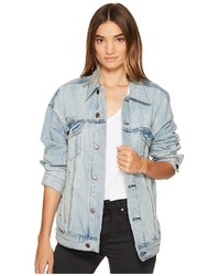 Free People Denim Trucker Jacket Coat