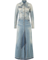 Roberto Cavalli Long Denim Coat