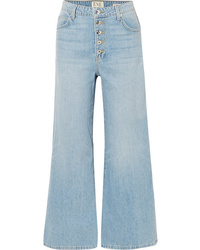 Eve Denim Charlotte Cropped High Rise Wide Leg Jeans