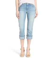 NYDJ Dayla Colored Wide Cuff Capri Jeans