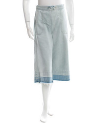Sea High Rise Denim Culottes