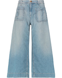 Current/Elliott The Culotte Cropped Mid Rise Wide Leg Jeans