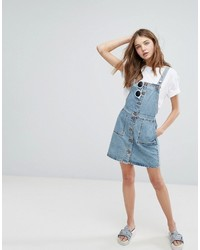 0e01c6e416 ... Monki Button Down Denim Overall Dress