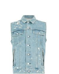Balmain Sleeveless Denim Shirt Jacket