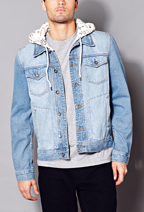 21men 21 Fresh Hooded Denim Jacket | Where to buy & how to wear