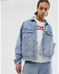 Levi's Baggy Oversized Denim Trucker Jacket In Bleach Wash