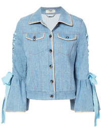 Fendi Bell Sleeved Denim Jacket