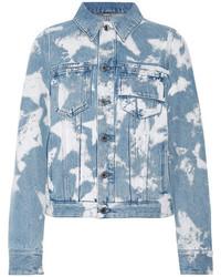 Givenchy Bleached Denim Jacket Light Denim